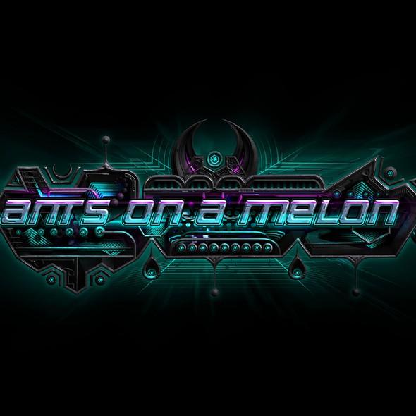 Futuristic artwork with the title 'Alien Banner Illustration'