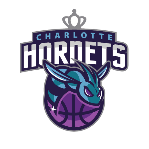 Basketball logo with the title 'Community Contest: Create a logo for the revamped Charlotte Hornets!'