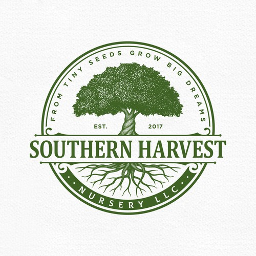 Crest design with the title 'Southern Harvest'