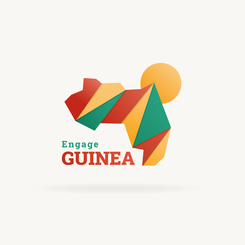 African design with the title 'Engage Guinea'
