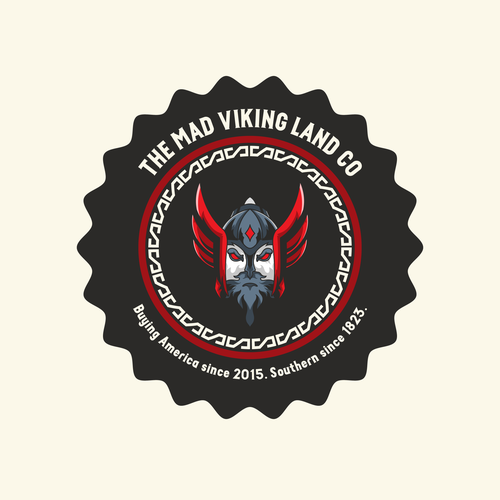 Viking brand with the title 'Bold Logo Concept Viking Mad'