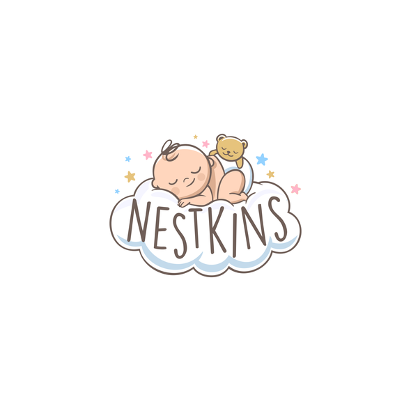 Character logo with the title 'Sleeping baby logo'