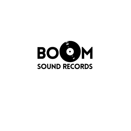 Record label logo with the title 'Vintage sound records logo'