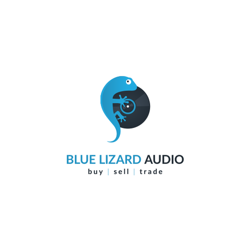 Lizard logo with the title 'Blue Lizard Audio'