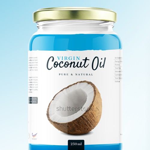 Coconut label with the title 'Virgin Coconut Oil'