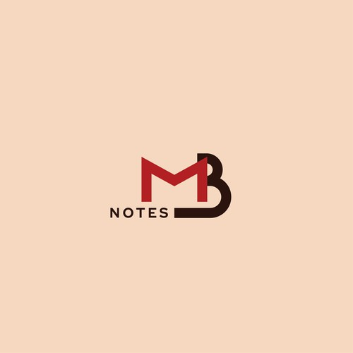 Sand design with the title 'Typographic logo for MB notes'