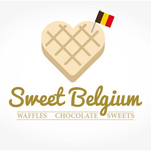 Belgium design with the title 'Sweet belgium'