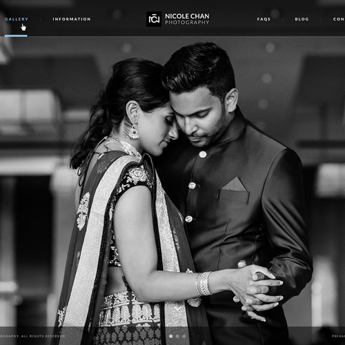 Portrait design with the title 'A Website Design Concept for a Wedding Photographer '