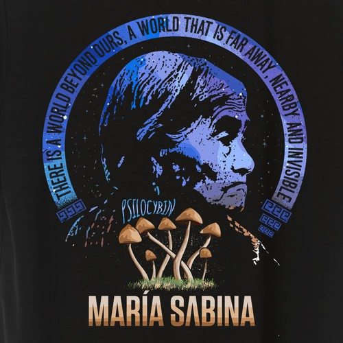 Mystic design with the title 'Maria Sabina '