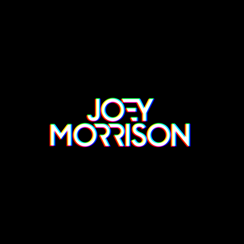 Electronic music logo with the title 'Joey Morrison DJ/ EDM Producer Logo Design'