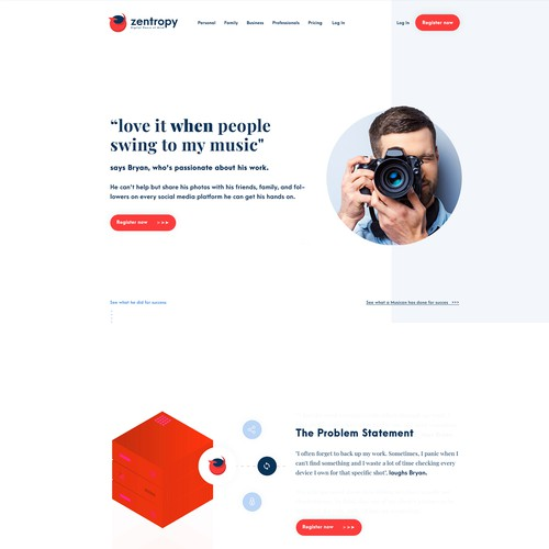 Dashboard website with the title 'Webdesign for a cloud company'