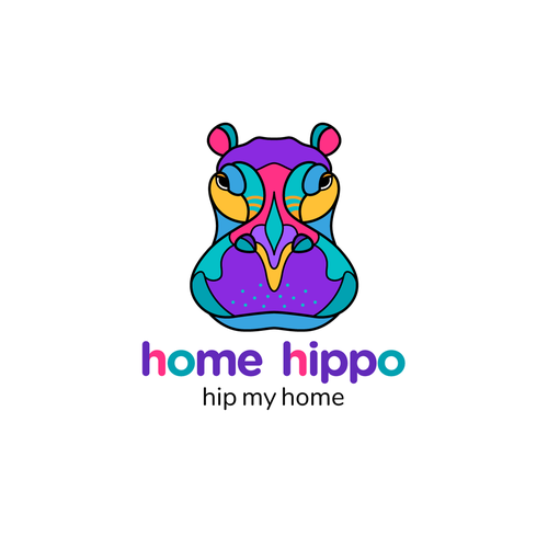 """Hippo design with the title 'Logo for the Home Furnishing and decor company """"home hippo""""'"""