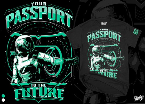 Astronaut design with the title 'Your Password To The Future '