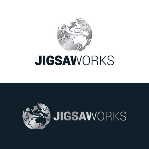 Logo with the title 'Jigsaw Globe'