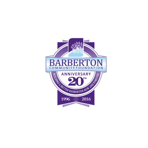 Anniversary logo with the title 'Logo for Barberton community foundation'