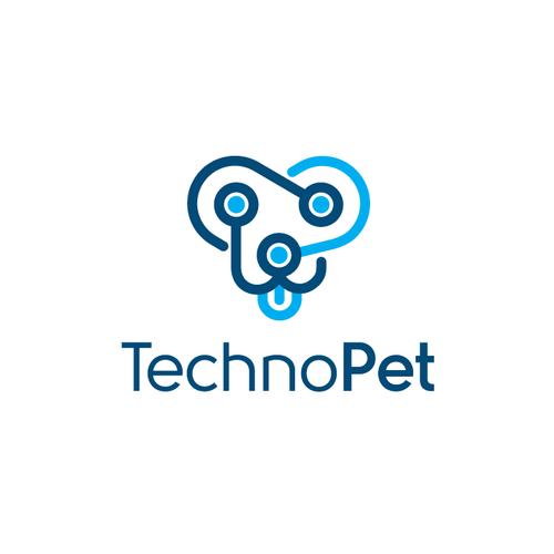 Pet shop logo with the title 'Techno Pet'