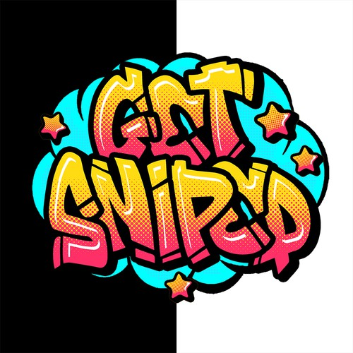 Lettering artwork with the title 'Get Sniped'