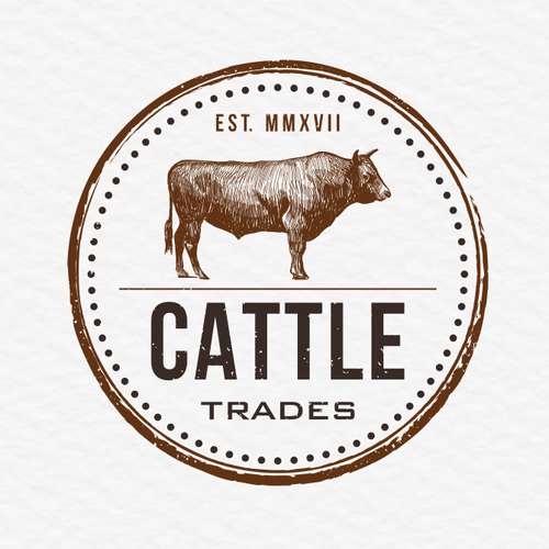Cattle logo with the title 'Cattle trades'