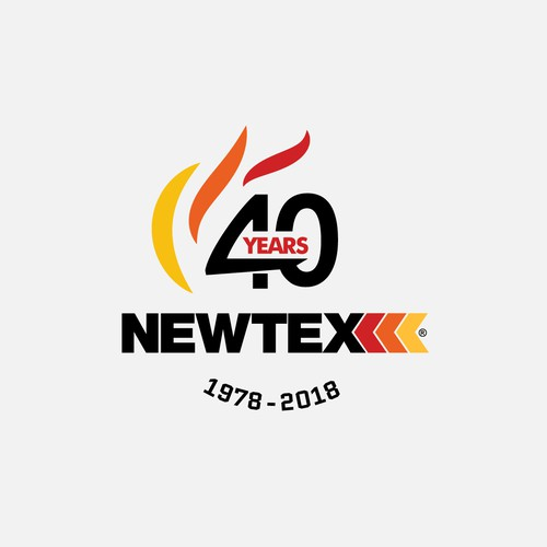 Flaming logo with the title 'Logo for 40th anniversary'