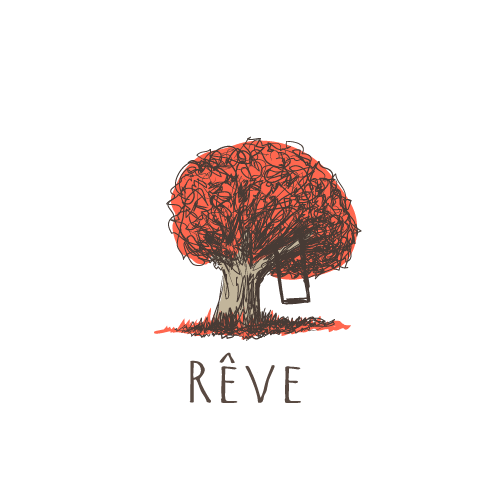Branch design with the title 'Reve'