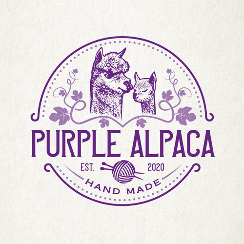 Badge brand with the title 'Logo for an Alpaca Farm'