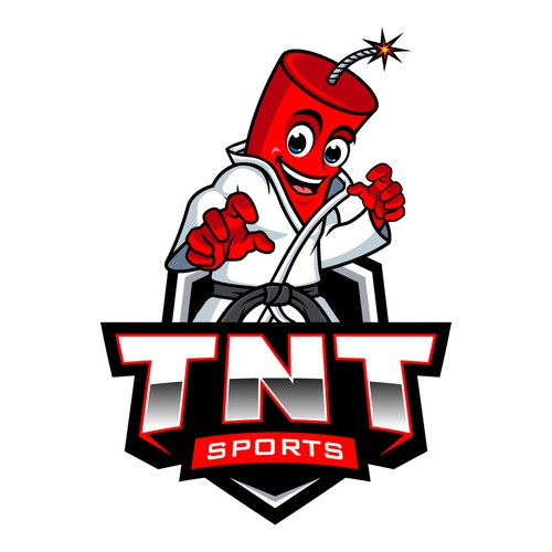 Martial arts logo with the title 'TNT SPORT'