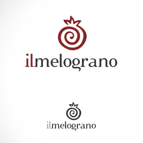 Pomegranate logo with the title '(The pomegranate) new logo'