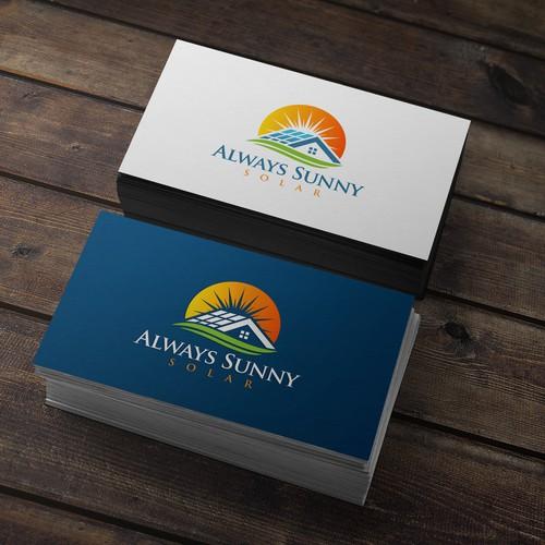 Sunny design with the title 'Always Sunny Solar'