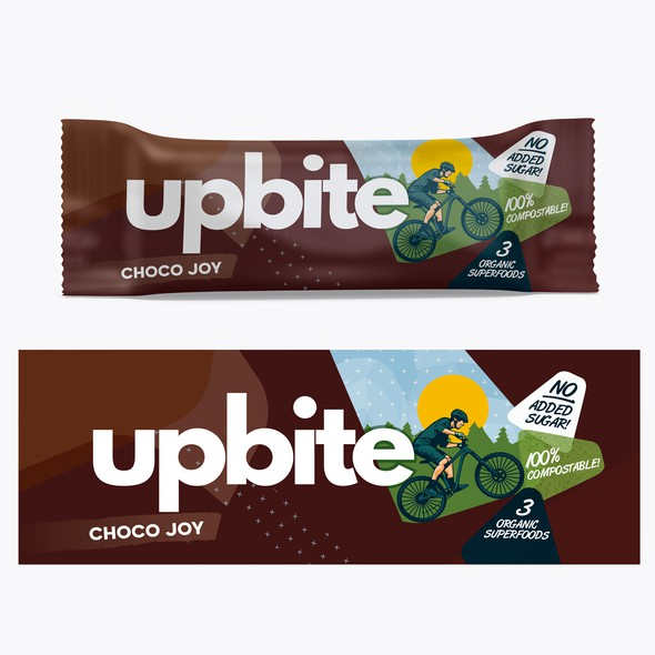 Chocolate design with the title 'upbite'