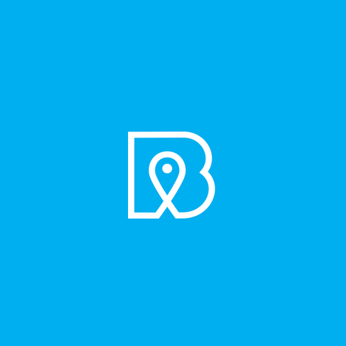 GPS design with the title 'Breadcrumbs - New social network for cataloging and curating locations and destinations'