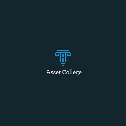 College logo with the title 'Asset College Logo design'