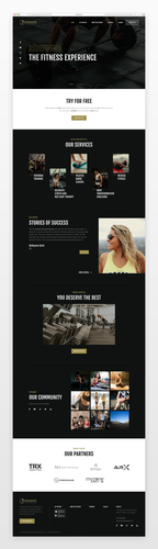 Gym website with the title 'Fitness Studio / Web Design Concept'