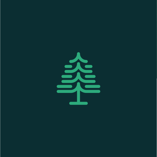 Data logo with the title 'Pine Tree Abstract'