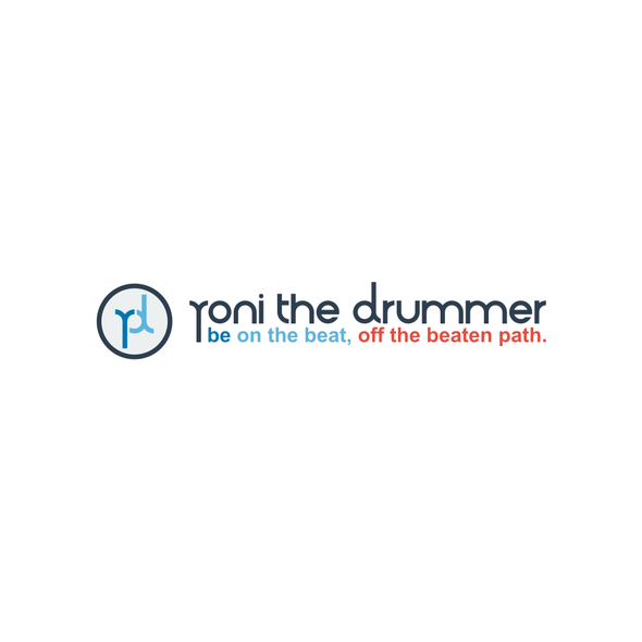 Drum logo with the title 'YONI THE DRUMMER LOGO'