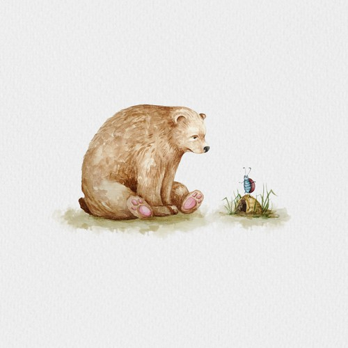 Cute animal illustration with the title 'Cute bear'