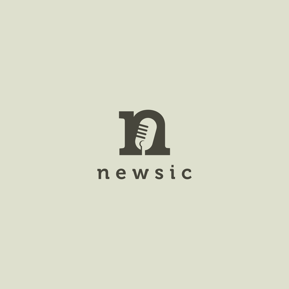Song design with the title 'newsic logo design'