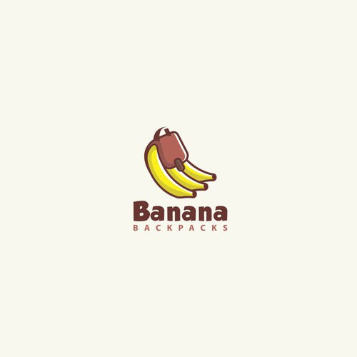 Banana logo with the title 'Banana Backpacks'
