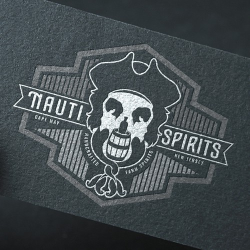 Masculine brand with the title 'Nauti Spirits logo'