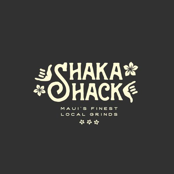 Maui logo with the title 'Shaka Shack'