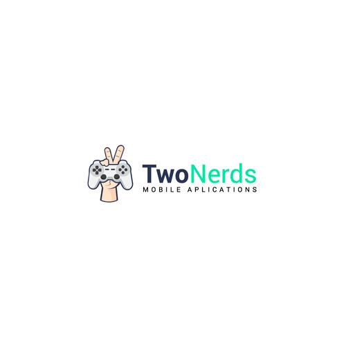 Number 2 logo with the title 'Two Nerds Design Concept'
