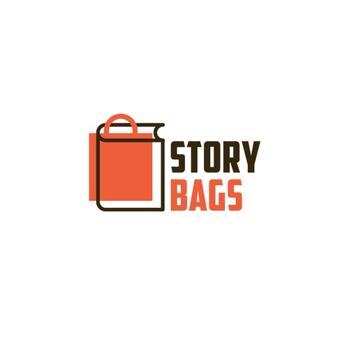 Book logo with the title 'Story Bags'