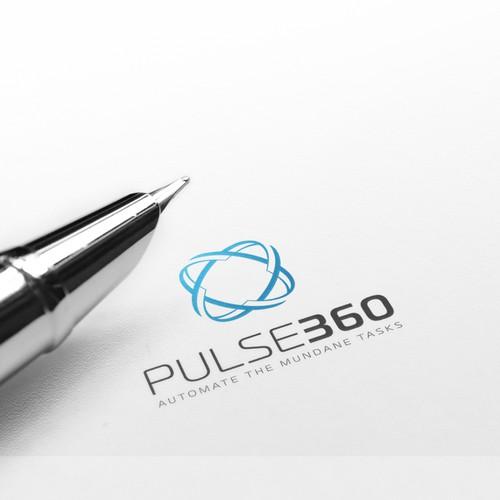 "Impulse logo with the title 'Logo concept ""Pulse360""'"