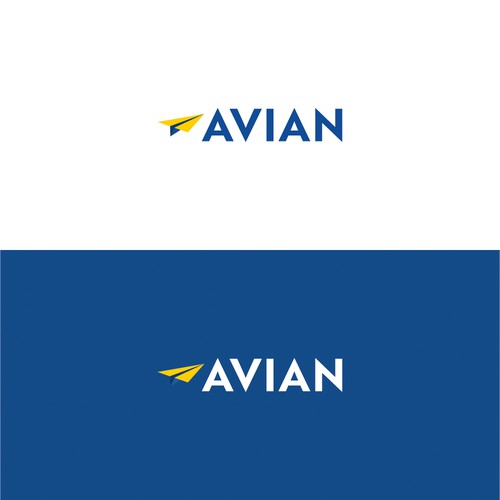 Airline design with the title 'Avian Logo #02'