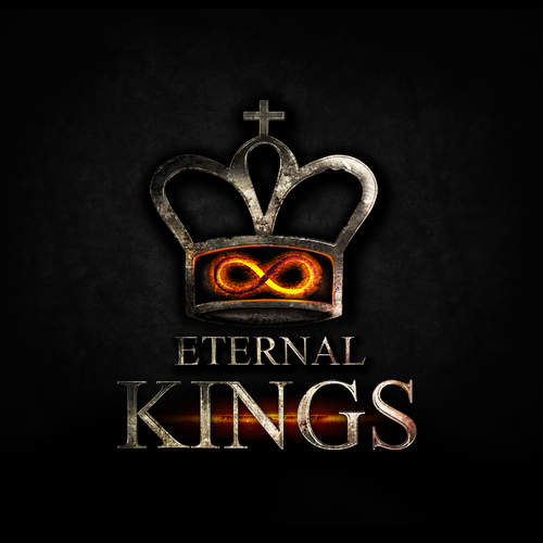 Dark logo with the title 'Create a new Chess crown for the game Eternal Kings.'