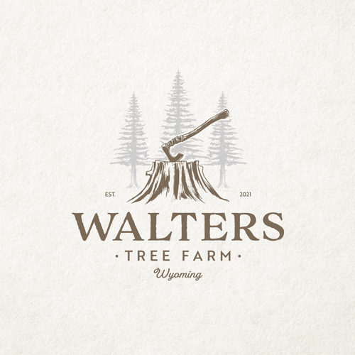 Cut design with the title 'Walters Tree Farm'