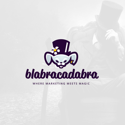 Rabbit design with the title 'Blabracadabra'