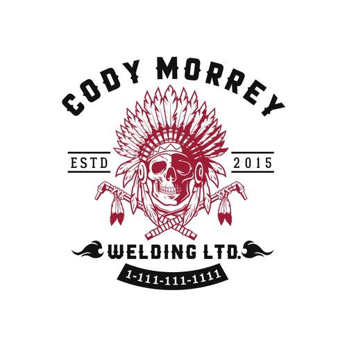 Foundry logo with the title 'Winner Cody Morrey Welding Ltd Logo Design'