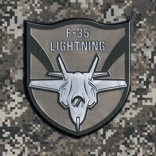 Jet design with the title 'F -35 patch design'
