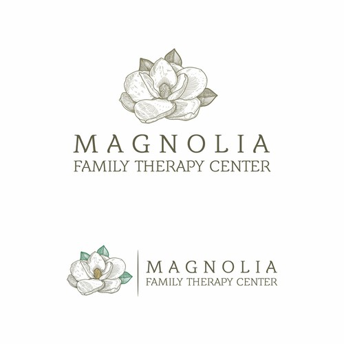 Magnolia design with the title 'Magnolia Family Therapy Center'