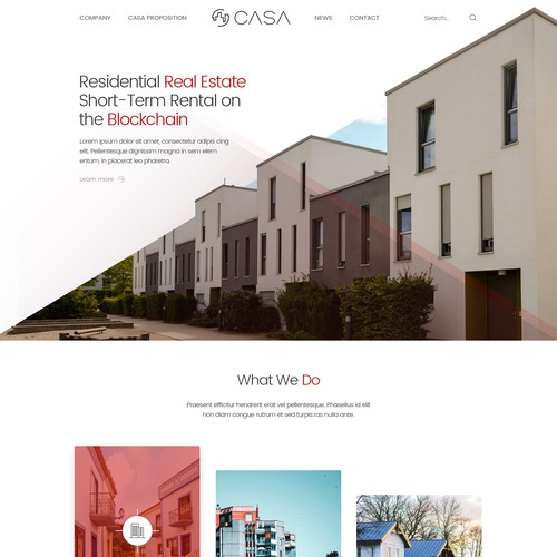 Mortgage website with the title 'CASA'